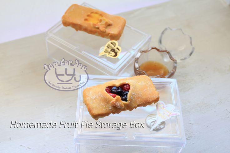 twitter @TeaForYouT instagram Tea For You  Homemade fruit pie storage box  #スイーツデコ #フェイクスイーツ #フェイクフード #粘土 #ハンドメイド #手作り #スイーツ #デザート #タルト #フルーツ #イベント #パイ #SweetsDecoration #FakeSweets #FakeFood #Handmade #Crafting #Clay #Clayart #Sweets #Dessert #Tart #Fruit #pie