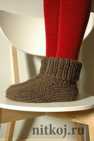 Теплые носки на двух спицах » Ниткой - вязаные вещи для вашего дома, вязание крючком, вязание спицами, схемы вязания