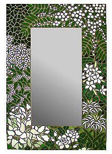 """Mosaic Mirror """"White Forest """" Más"""