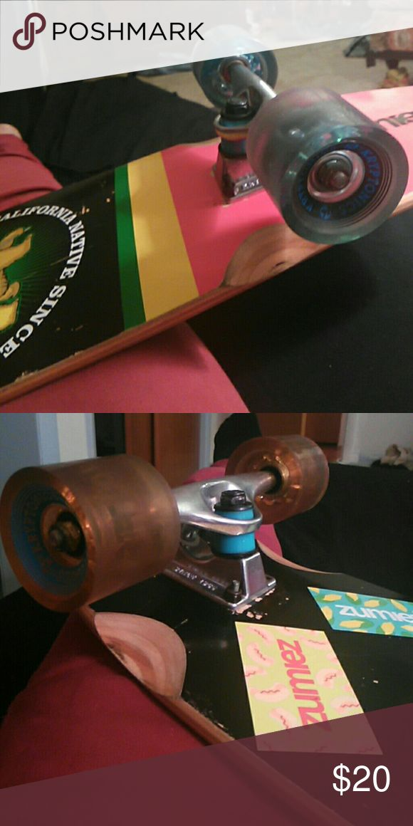 Longboard trucks, wheels, bearings, and hardware. Brand new never used, put on board only for show ???? 1822 Denim Other