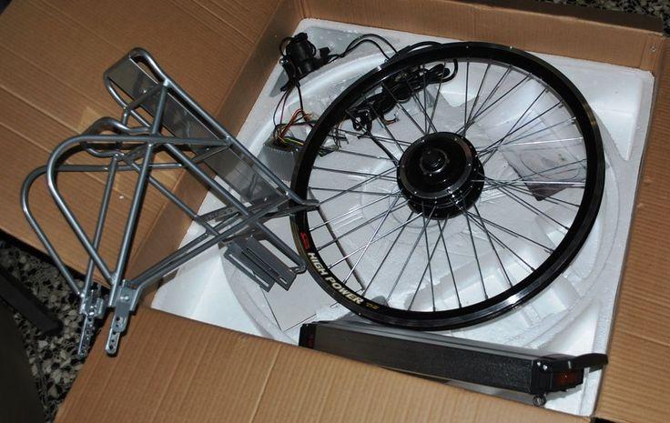 """bicicletta elettrica kit elettrificazione  24""""al litio motore posteriore"""