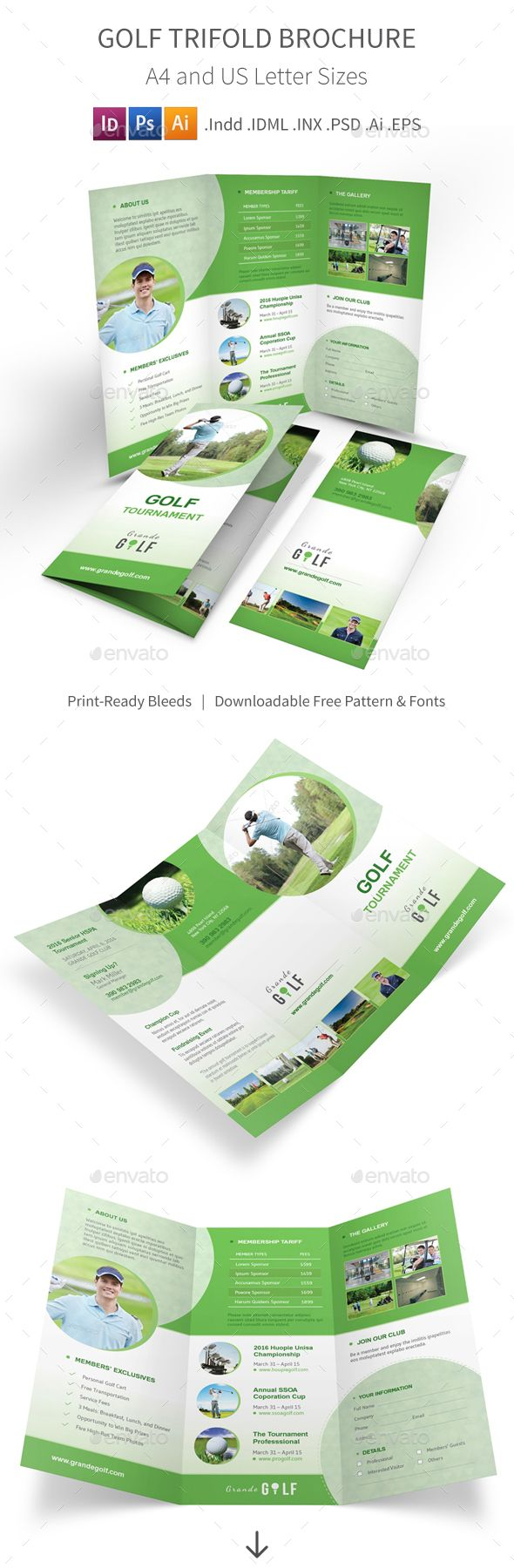 Best Sport Brochure Template Images On   Brochure