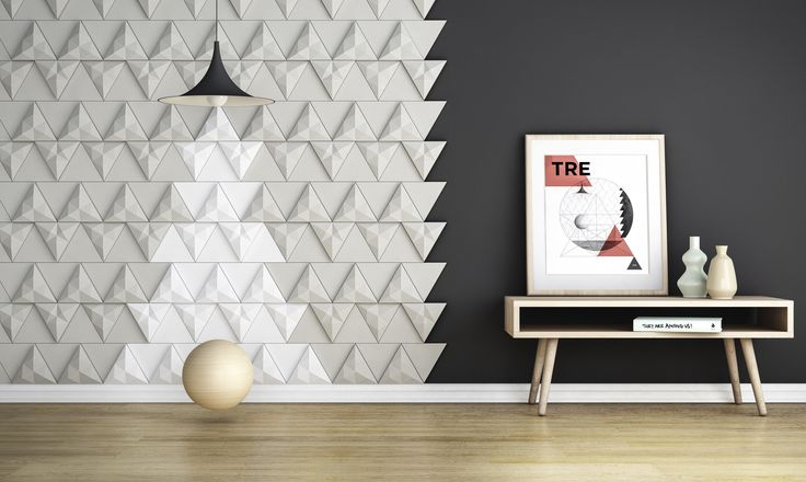 'Tre' concrete tile design by Next Ship navigator, Levi Fignar I KAZA Concrete #surfacedesign #backsplash #walldecor #featurewall