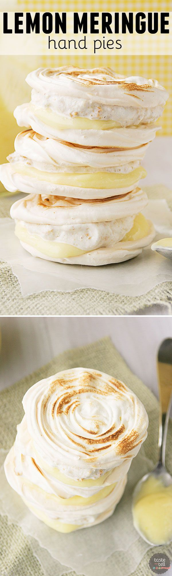 Forget the crust! This take on a lemon meringue pie is perfect for a warm day. Meringue cookies are sandwiched with graham cracker ice cream and lemon curd for a fun hand pie.
