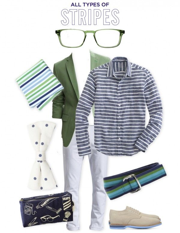Style Board: All Types of Stripes | Well-Groomed for Offbeat Bride #grooms #wedding