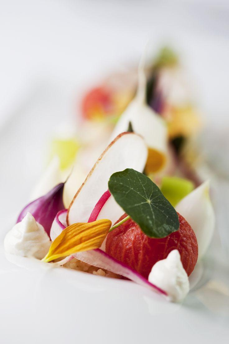 Couscous/ spring vegetables/ wild herbs/ farmstead cheese