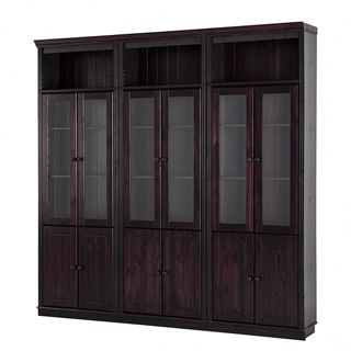 Shop for 86-inch Tall Anita Solid Pine Bookcase with Optional Glass and Wood Doors. Get free shipping at Overstock.com - Your Online Furniture Outlet Store! Get 5% in rewards with Club O! - 17691119