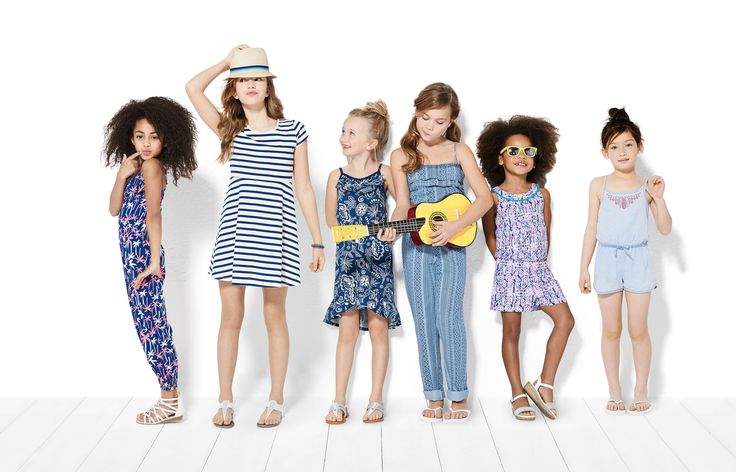 Little girls can get in on the festival fashion this summer with light wash denim, jumpers and graphic prints in Navajo and paisley. #looksforless #girlfashion #summerfashion