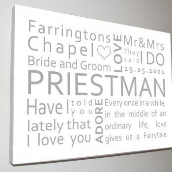 Personalised Wedding Canvas 4