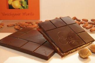 Cioccolato ripieno all'albicocca della Val Venosta DA NON PERDERE
