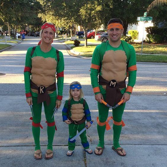 Teenage Mutant Ninja Turtle Kostüm selber machen | Kostüm Idee zu Karneval, Halloween & Fasching