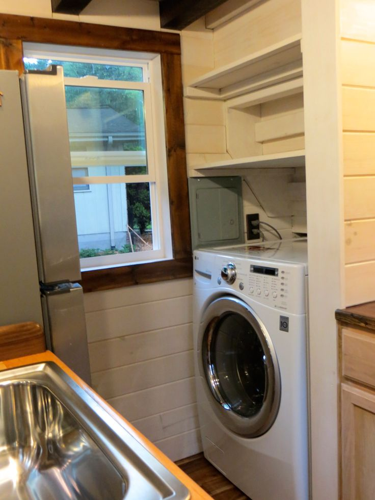 a tiny house on wheels in north carolina built by brevard tiny house company - Tiny House Washer Dryer