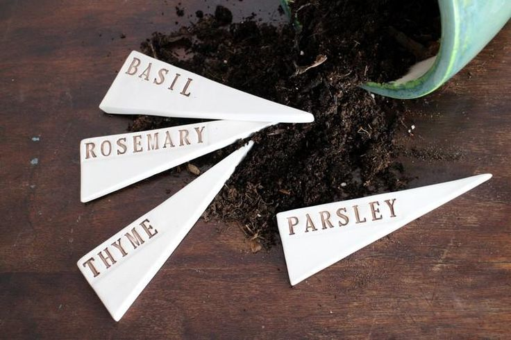 Compliment your herb garden (indoors or out!) with these adorable ceramic herb markers. There's no better inspiration to start growing your own herbs (like you've been talking about for ages)!