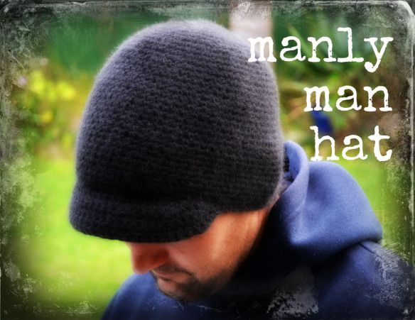 """Man Hat - Possibly my favorite pattern ever.  Men love it!  I've also """"girled"""" it up a bunch of them with a band and buttons."""
