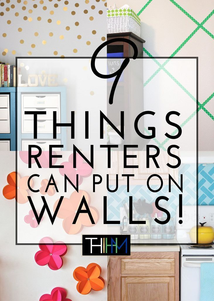 9 Things Renters Can Put On Their Walls | As a renter, you don't have to live with bland and boring walls! Try one of these 9 things to give your walls personality without loosing your security deposit!