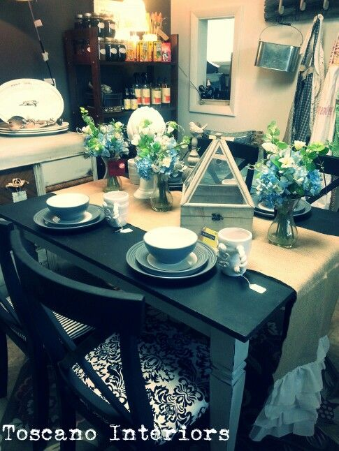 Refurbished Dining Room Table And Chairs. Designed By Candance Toscano At Toscano  Interiors