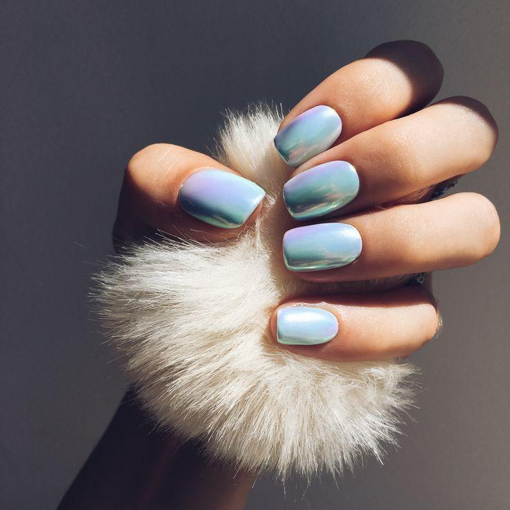 #nails, trendnails, nails2017, summernails, bluenails, rainbow nails, маникюр, втирка, голубые ногти, нежность, радужный, летний маникюр
