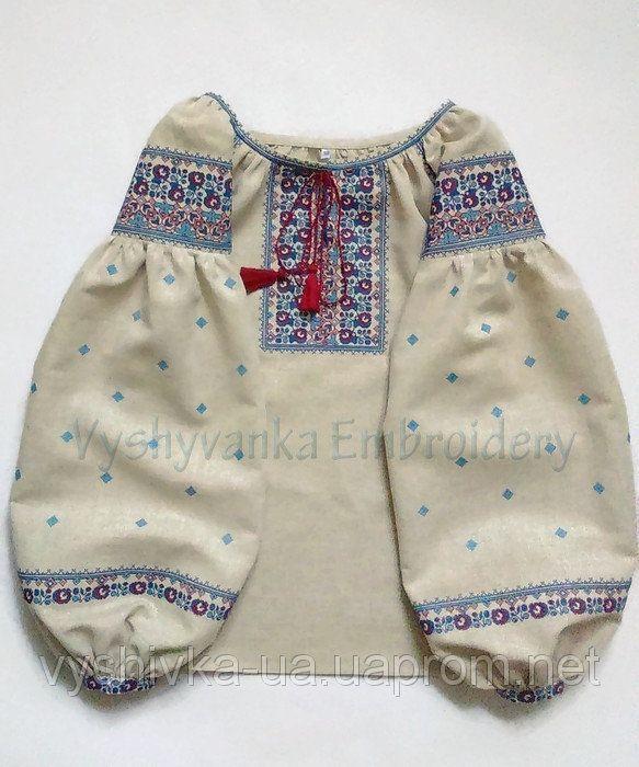 Вишиванка жіноча з натурального льону вишита дрібним хрестиком  7c50d6e961956