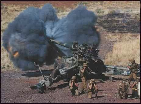 G5 Howitzer in direct fire role.