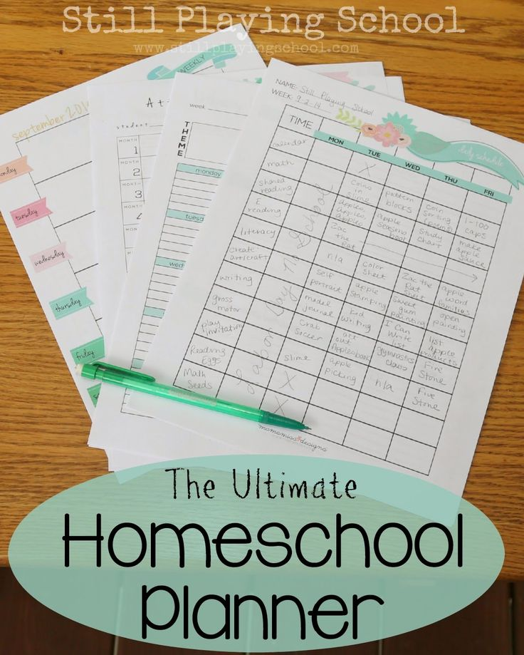 The Ultimate Homeschool Planner (with #giveaway) from Still Playing School