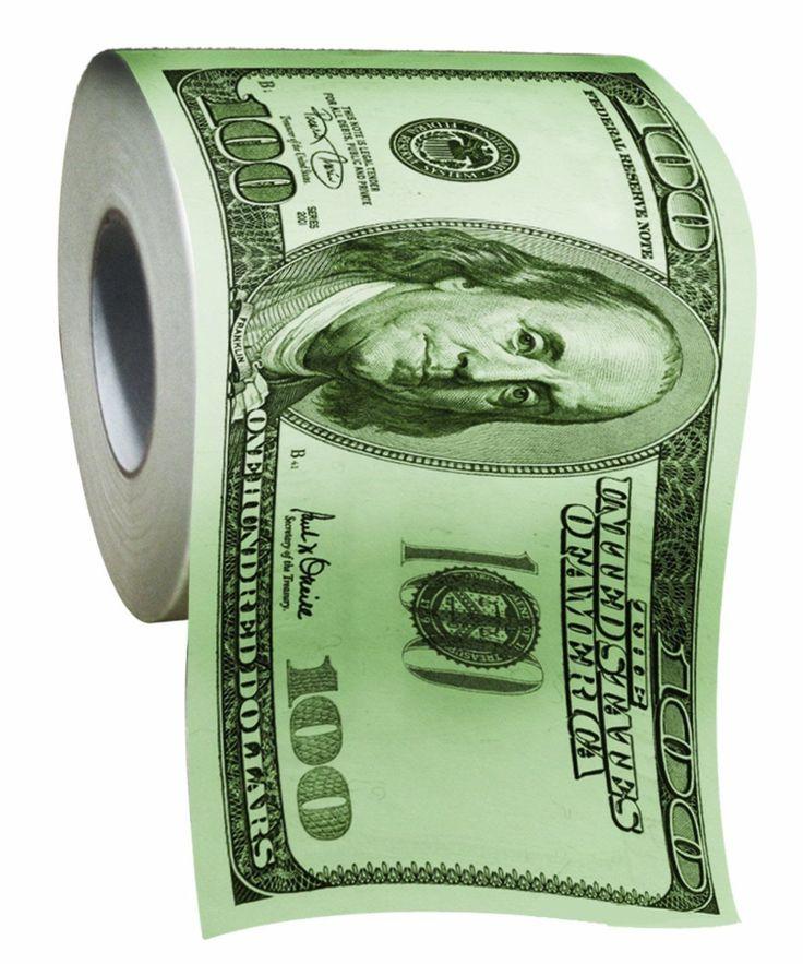 Usa Seller $100 Dollar Bill Money Toilet Paper Funny Humor Gift Brand