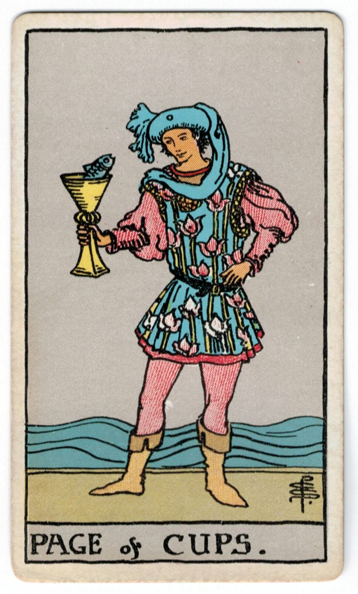 page of cups relationship tarot