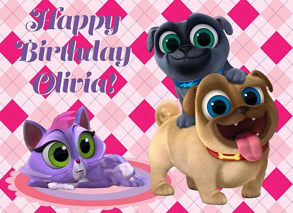 Puppy Dog Pals Edible Cake Topperpuppy Dog Pals Cupcake Birthday Party Cake 3rd Birthday Parties Edible Cake Toppers