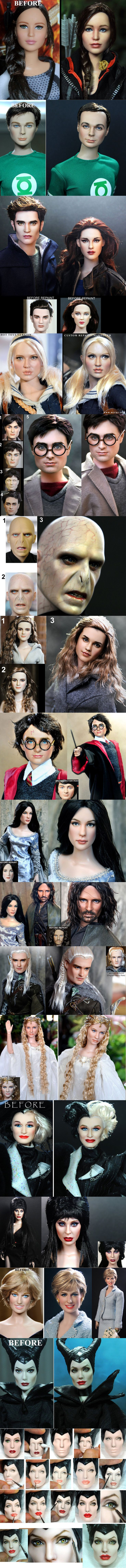 Makeup artist repaint celebrity based dolls to make them look more realistic - Imgur