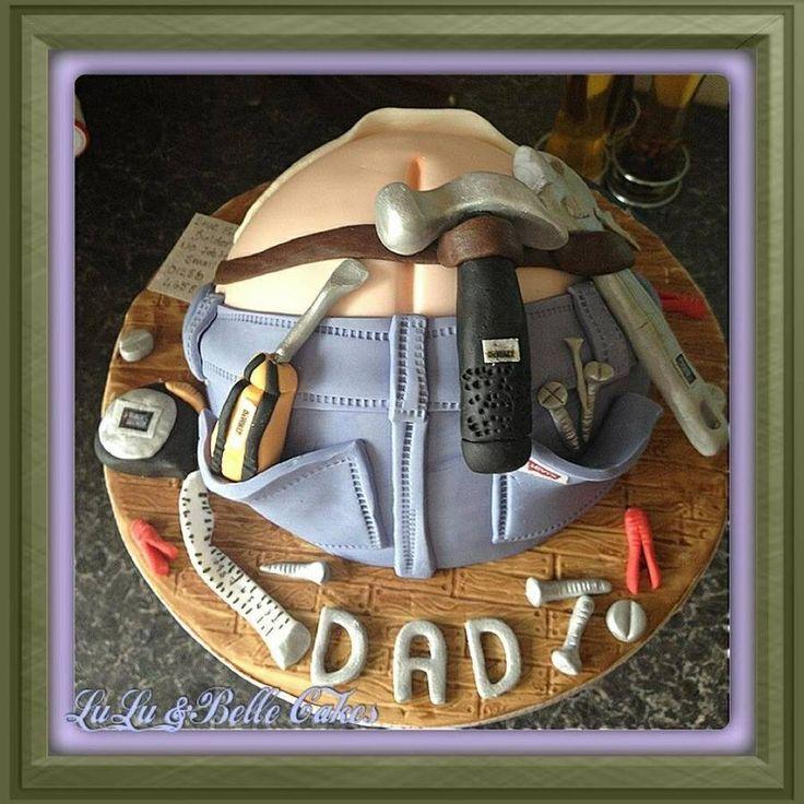 Kagedesign til fars fødselsdag.