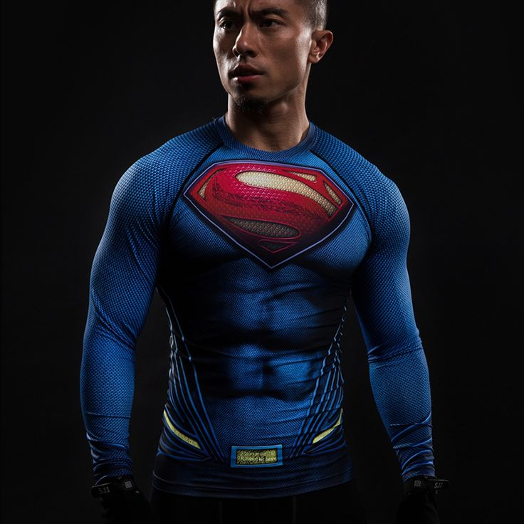 Superman Compression Longsleeve //Price: $25.00 & FREE Shipping //     #avengers #justiceleague #superman #spiderman
