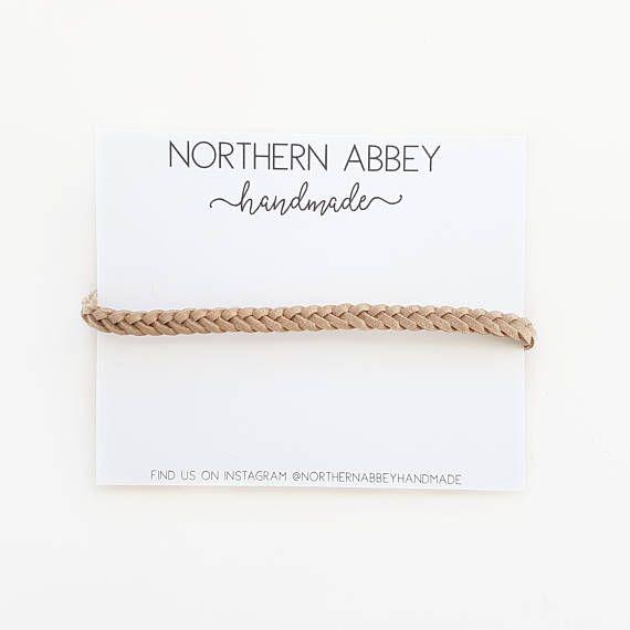 BRAIDED Headband / Four Strand / Boho Style / Nylon Backing /