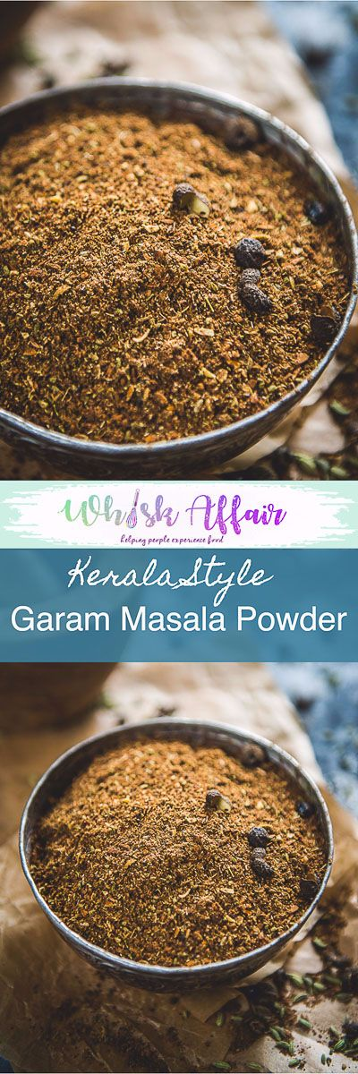 A fine mix of roasted spices like black peppercorn, star anise, nutmeg and more, Kerala Garam Masala changes your ordinary curry or dal in a whiff!. Use in Kerala Style recipes or the regular recipes. #IndianSpiceMix #IndianSpicePowder #SpiceMix #Homemade #GaramMasalaPowder via @WhiskAffair