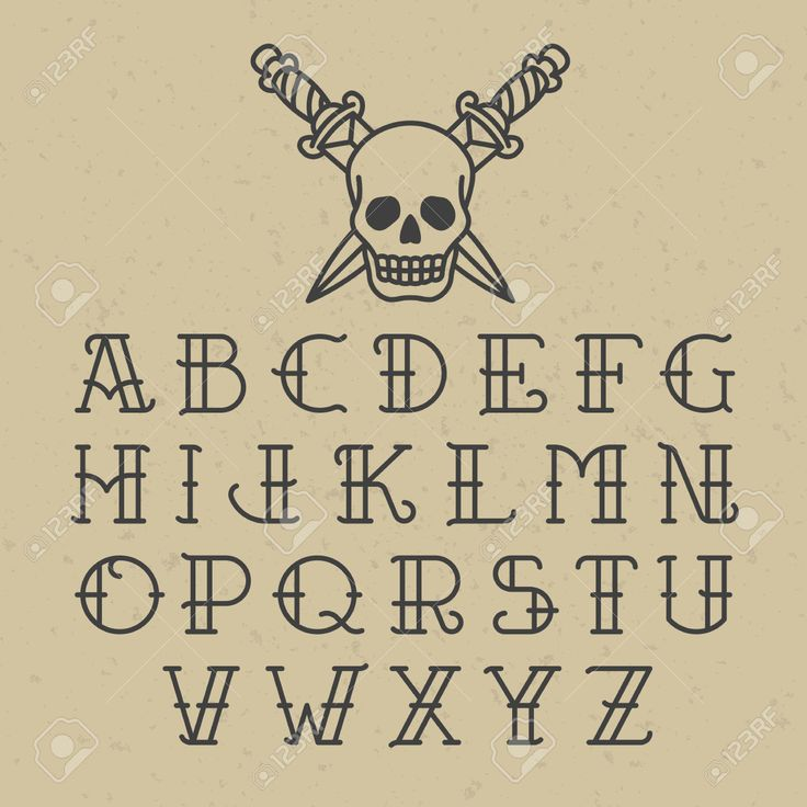 17 best images about tattoo flash art on pinterest for Traditional tattoo fonts