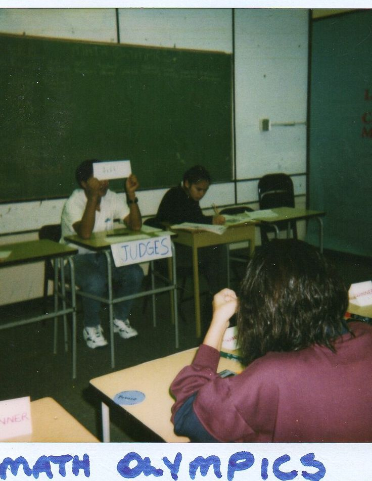 Math Olympics were intended to help reinforce numeracy.