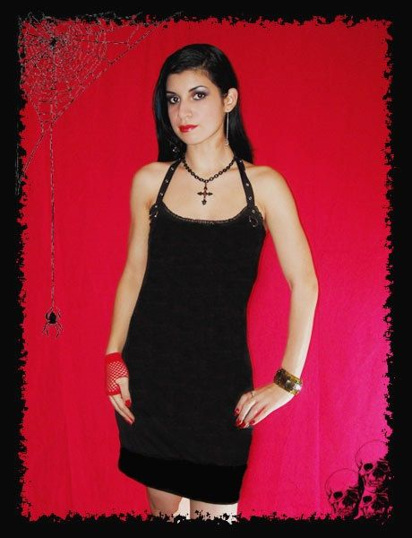 Send me your Mens T-Shirt for Reconstruction and I will alter into the style of this halter mini dress!