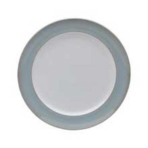 Denby Mist Wide Rimmed Dinner Plates, Set of 4 by Denby. $160.00. Material: stoneware. Dishwasher, microwave, oven and freezer safe. Denby Mist Wide Rimmed Dinner Plates, Set of 4. Each piece of pottery is painstakingly glazed by skilled craftsman.. Strong, durable and chip-resistant. Indulge your senses with Mist. Dreamy shades of chalk blue to accent with the warmer lines of Mist Falls.  Anyone who owns Denby will tell you how versatile it is and how good it feels.  Eve...