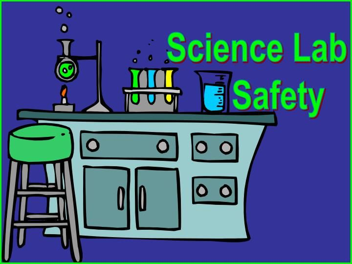 Science Lab       Safety.  Eye Protection:  When working in the lab  with chemicals (other than water) or with  foreign objects that could splinter,   safety goggles (glasses)  must be worn.