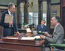 Yes Minister  The series follows the senior ministerial career of The Rt Hon Jim Hacker MP, played by Paul Eddington. His various struggles to formulate and enact legislation or effect departmental changes are opposed by the will of the British Home Civil Service, in particular his Permanent Secretary, Sir Humphrey Appleby, played by Nigel Hawthorne.