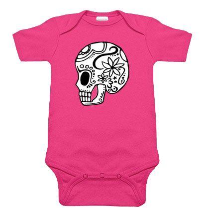 .: Baby Rocks, Skull Onesie, Punk Rocks, Sugar Skull, Girls Outfits, One Pieces, Hot Pink, Baby Girls, Baby Clothing