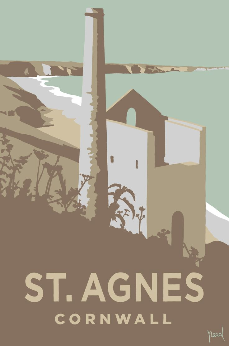 St. Agnes (SR21) Coastal Art Print by Steve Read http://www.thewhistlefish.com/product/sr21f-st-agnes-print-by-steve-read #stagnes #cornwall #enginehouse