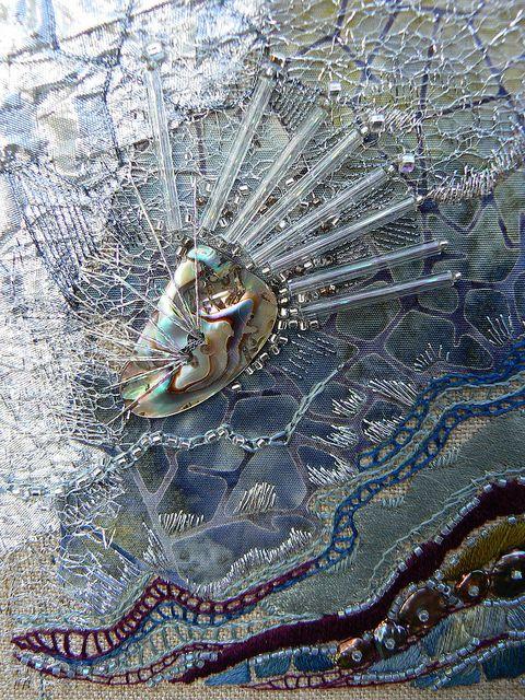 www.facebook.com/cakecoachonline - sharing....Textile art by Carol Walker