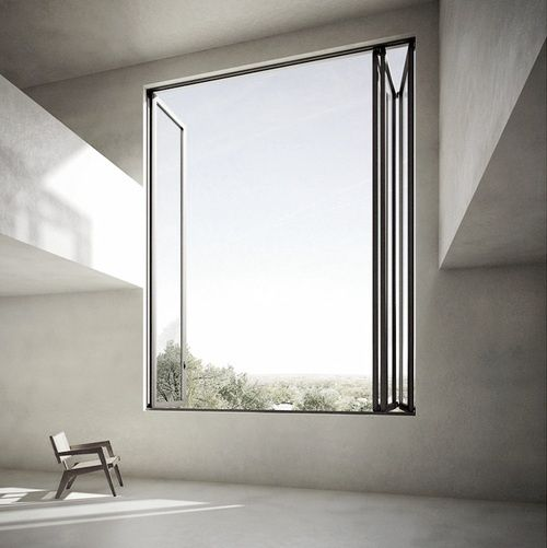 Super large windows gives the space good ventilation and often times brings the outdoors in♡♡♡♡♡♡