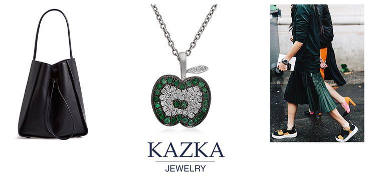 Золотая подвеска с бриллиантами и необычными цаворитами. Благодаря оригинальной форме украшения, вы не останетесь без восхищенного внимания окружающих.  Приобрести со скидкой за 15 076 грн. http://kazka.ua/zolotaya-podveska-1p309-0006-1p309-0006/  #kazkajewelry   #украшения_kazkajewelry   #jewelry   #gold   #apple   #diamond   #украшения   #кулон   #золото   #бриллианты   #новыйгод   #подарки