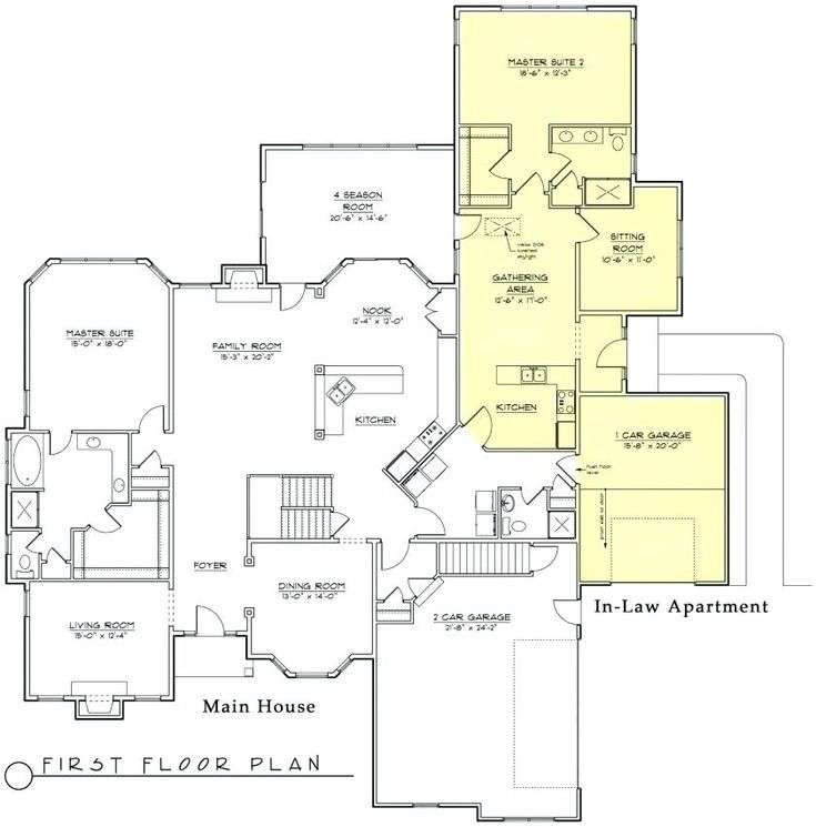 Inlaw Suite House Plans House Plans With Detached Mother In Law Suite Fresh New House Multigenerational House Plans Modular Home Floor Plans Porch House Plans