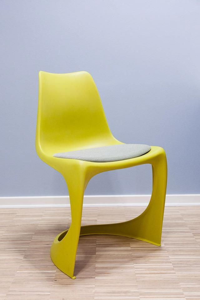 "The 290 MODO chair in yellow designed 1966 by Steen Ostergaard, produced by Nielaus.dk , this color combo was made for Kokken and Jumfruen -a famous danish catering company 2013, Bettina Therese, ""Indretning med Mening"" did the interior design."
