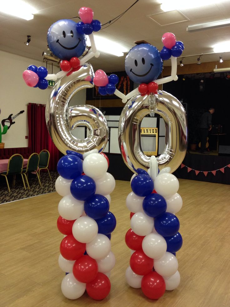 14 best 60th birthday party ideas images on pinterest for Birthday balloon centerpiece ideas