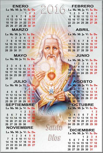 Vidas Santas: Calendario Santo Dios, 2016