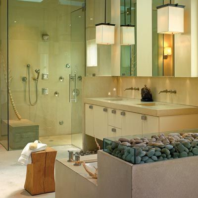 13 relaxing spa bath retreats spa baths zen bathroom for Zen style kitchen designs