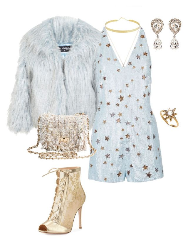 """""""New Years Eve outfit 1"""" by prettyabryllya on Polyvore featuring Miss Selfridge, Valentino, Gianvito Rossi, Anzie, Lana and Dolce&Gabbana"""