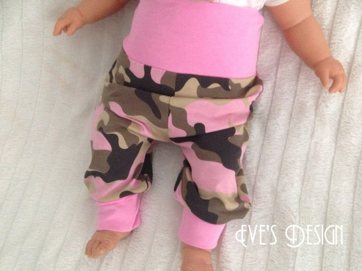 """Pumphosen - Pumphose  """"Camouflage rosa"""" Größe 50-86 - ein Designerstück von EvesDesign bei DaWanda"""